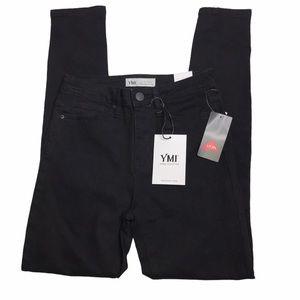 New YmI Black Hi Rise skinny Jean Sz 5/27